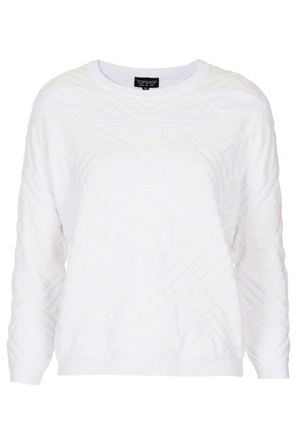 white quilted jumper