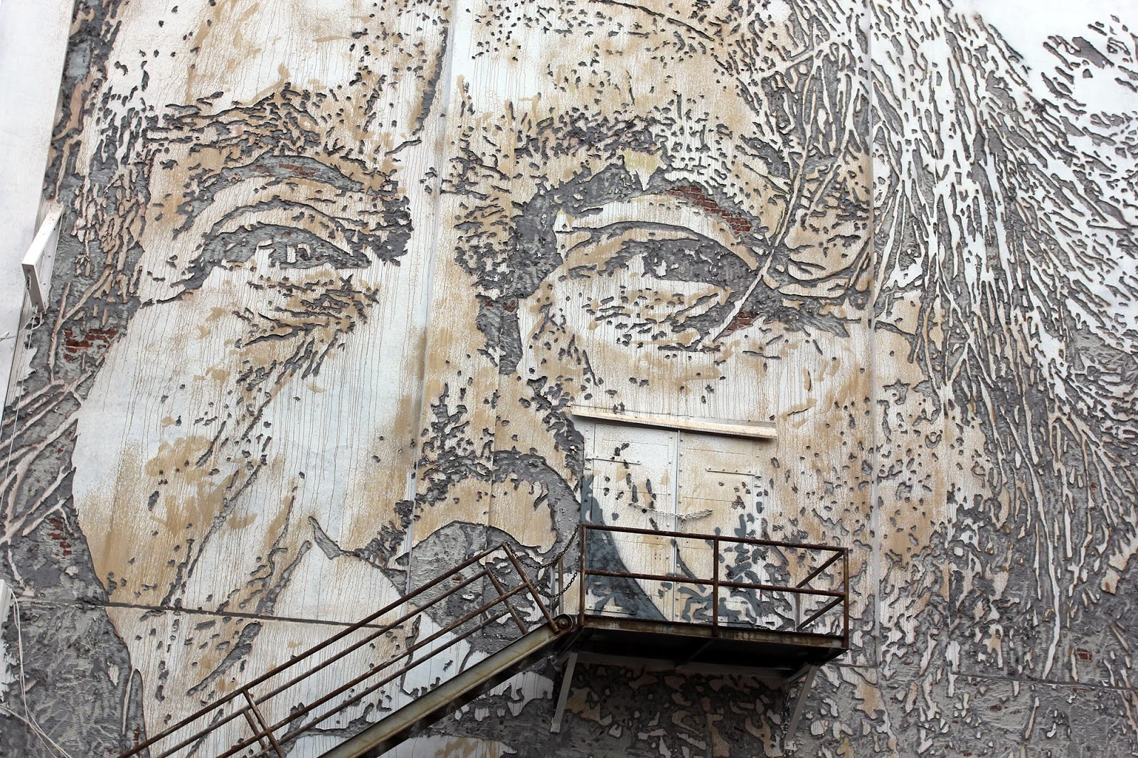 unexpected 15 vhils unveils a new mural in fort smith arkansas first photographs made from native american cherokee continue reading for more detailed images on this gorgeous piece of work and then check back with
