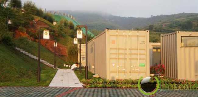 Dibuat dari kontainer