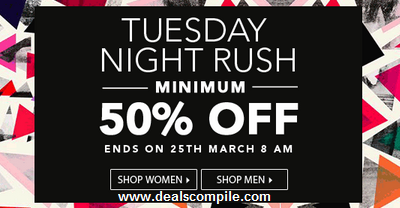 Jabong Tuesday Night Rush – T-shirts, Shirts, Watches at Minimum 50% Off