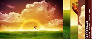 gambar pemandangan alam di sore hari