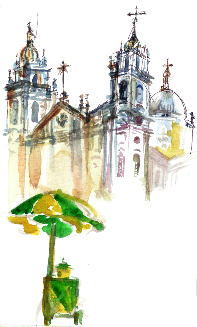 "Shiho Nakaza ""Rio de Janeiro"" Rio watercolor sketch sketching ""travel sketching"" Centro"
