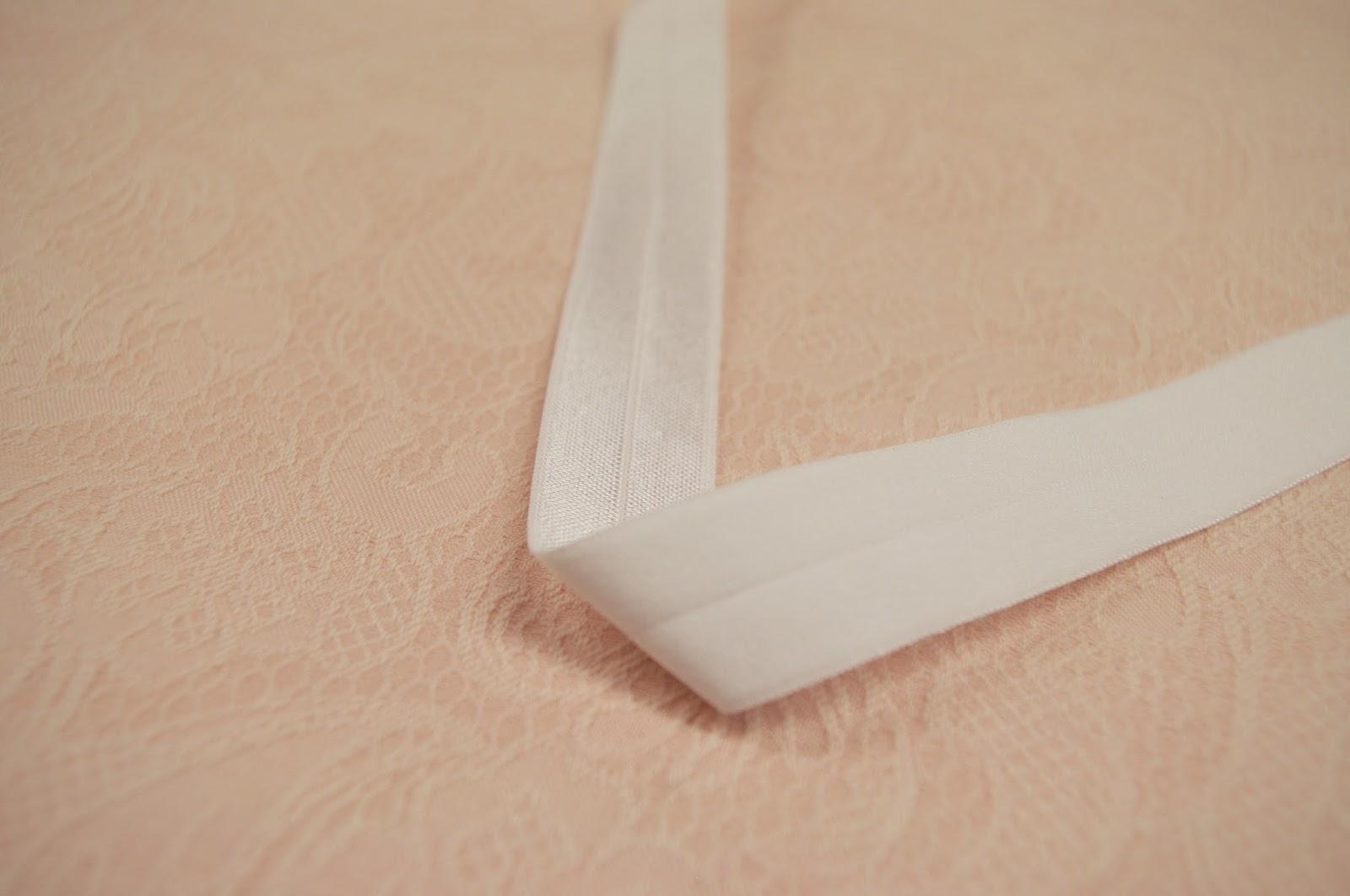 fold over elastic lace ribbon diy