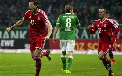 Xem lại đầy đủ trận Werder Bremen vs Bayern Munich