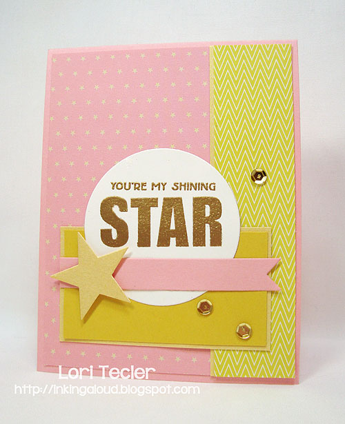 Shining Star-designed by Lori Tecler-Inking Aloud-stamps and dies from Clear and Simple Stamps