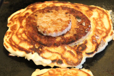 Top Hat Pancakes With Scrambled Eggs Recipe