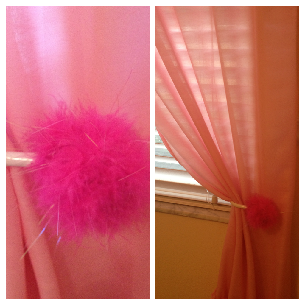 Comcurtain Holdbacks For Kids Room : Pic 4 - Work in small sections by adding hot glue and wrap the boa and ...