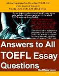 Answers to All TOEFL Essay Questions Pdf