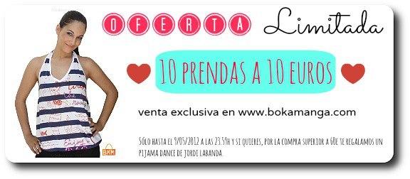 10 PRENDAS A 10 EUROS EN BOKAMANGA.COM