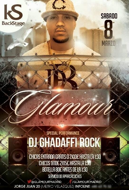 GHADAFFI ROCK en GLAMOUR EL SÁBADO 8 DE MARZO (661818403)