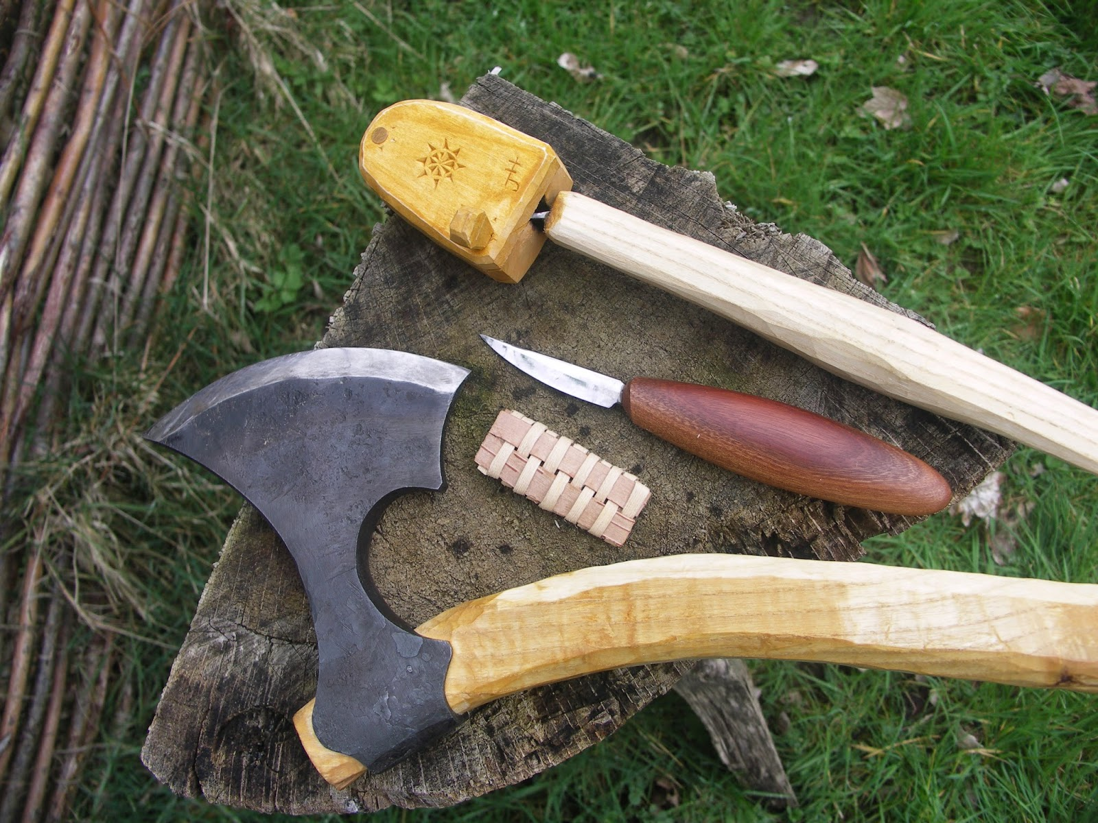 Holt heath wooden treenware spoon knife case