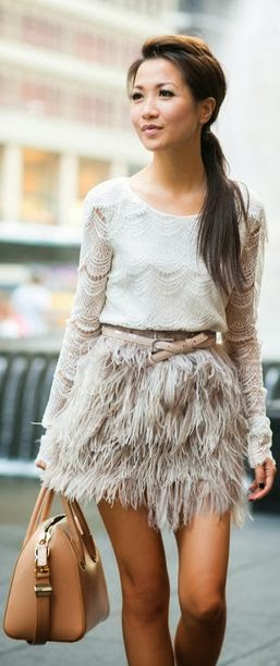 Beautiful White Feather Weather Lace Tiered Top & Delicate Skirt