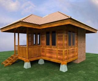 Desain Rumah Kayu Minimalis Sederhana dan Indah