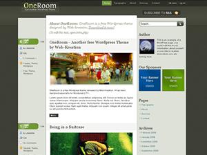 OneRoom Blogger template,OneRoom template