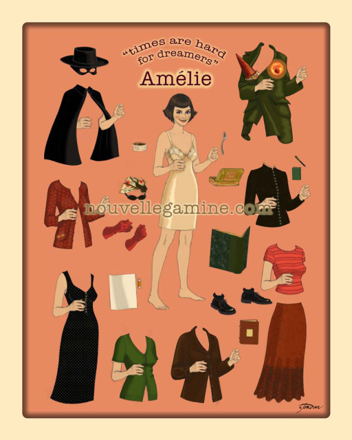 Amelie paper doll