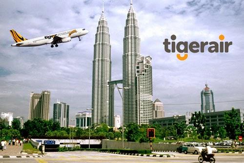 Vé máy bay Tiger Airways giá rẻ đi Malaysia
