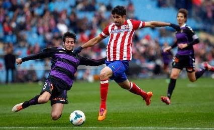 Hasil Skor Video Cuplikan Gol Atletico Madrid VS Valladolid (15/2/2014)