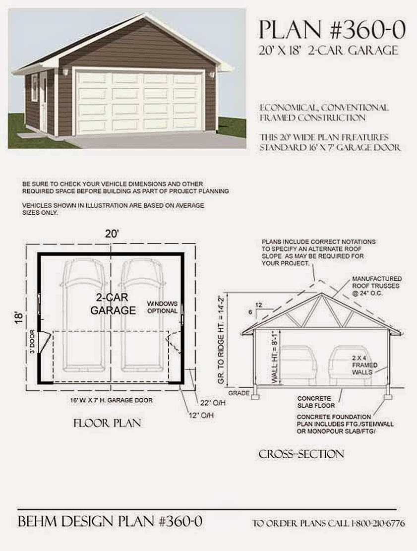 2 car garage dimensions fabulous garage plans with for Simple garage plans free