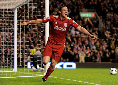 Andy Carroll Liverpool Goal Celebration