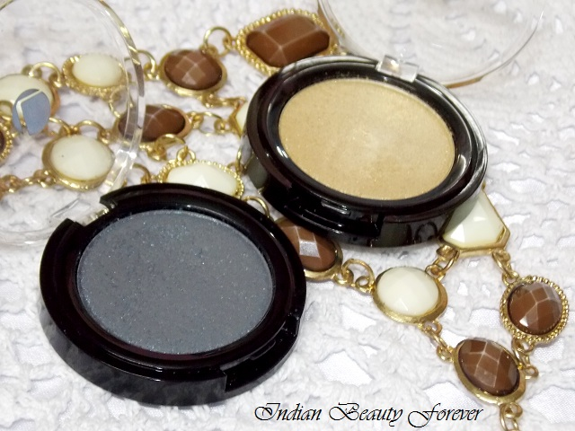 Lakme Absolute Color Illusion Eye shadows in Smokey pearl and Gold Pearl