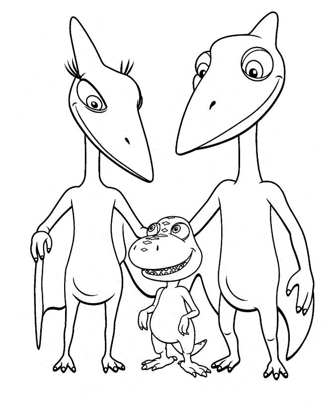 Dinosaurios para colorear