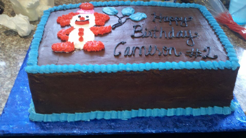 Sweet Creations By Melissa Retro Clown Chocolate Birthday Cake
