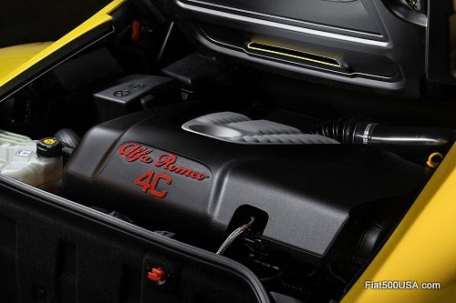 Alfa Romeo 4C Engine Compartment