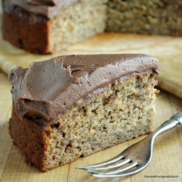Banana cake with butter icing recipe