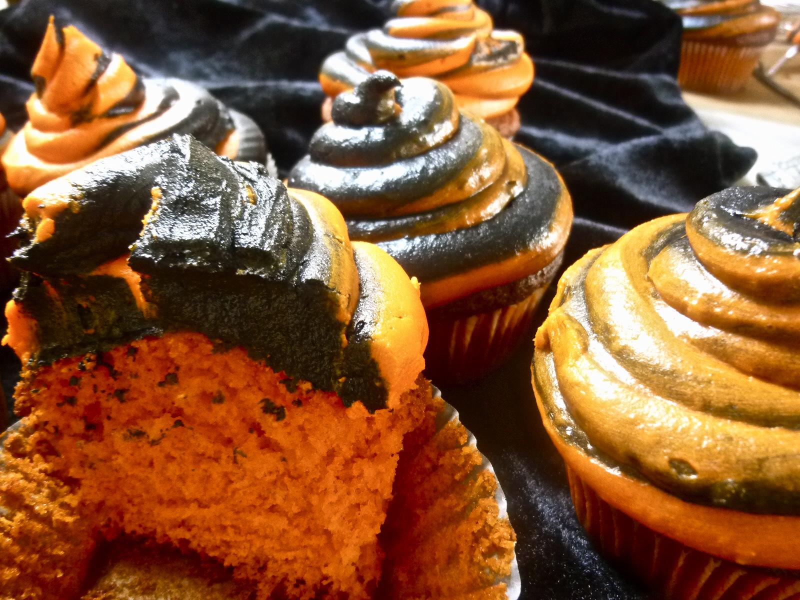 Red Velvet Cupcakes With Orange Buttercream Recipes — Dishmaps