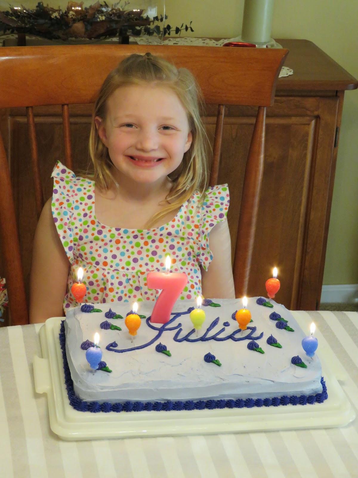 The Husker Family Happy 7th Birthday Julia