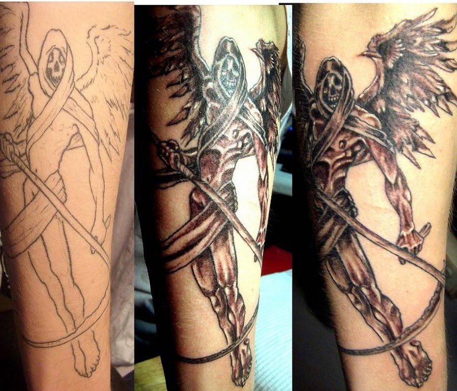 Angel Of Death Tattoos 2013