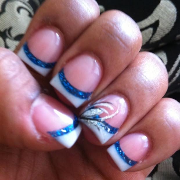 white tip nail design stencils