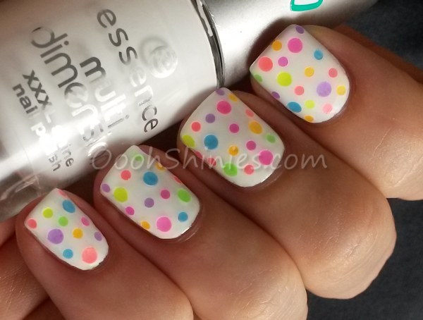 Essence Perfectly True with BPS round glitters.