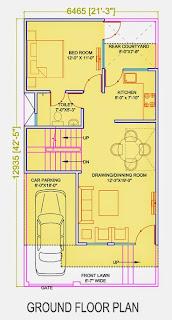 Golf Country, Yamuna Expressway :: Floor Plans,Golf Villa (100 sq. yd.):-Ground Floor Plan Plot Area: 771.56 Sq. Ft.