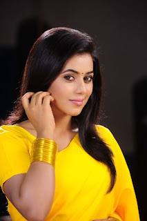 Poorna New Pictures in Yellow saree 012.jpg