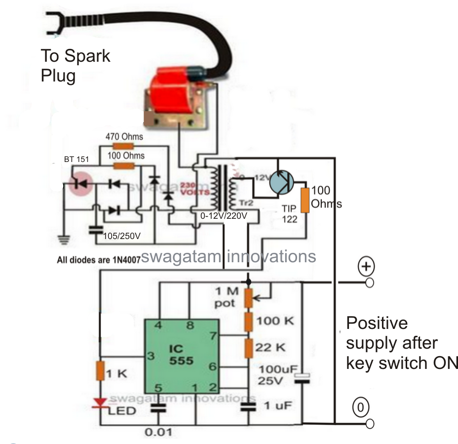 Make this Enhanced Capacitive Discharge    Ignition        CDI     Circuit for Better Mileage  For two and
