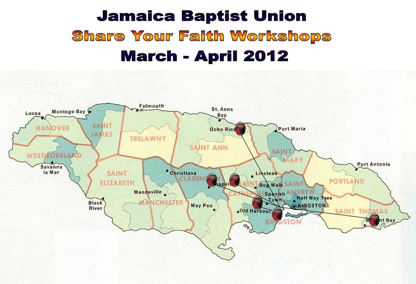 i assisted in conducting six 6 of the many workshops done across the island as a part of the jamaica baptist union s jbu mission 20 20 vision