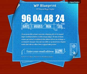 WP BluePrint blog template. download under contruction blogger template