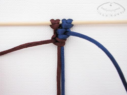 Podwójny węzeł łańcuszkowy wykonywany na 4 sznurkach - 9