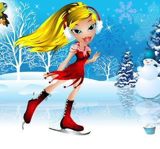 Juego de vestir y maquillar a las Bratz para navidad