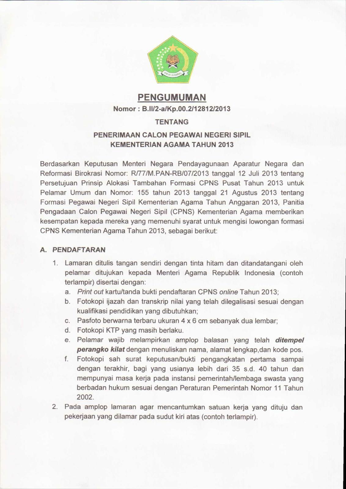 Related image with Cara Pendaftaran Online Cpns Di Panselnasmenpangoid