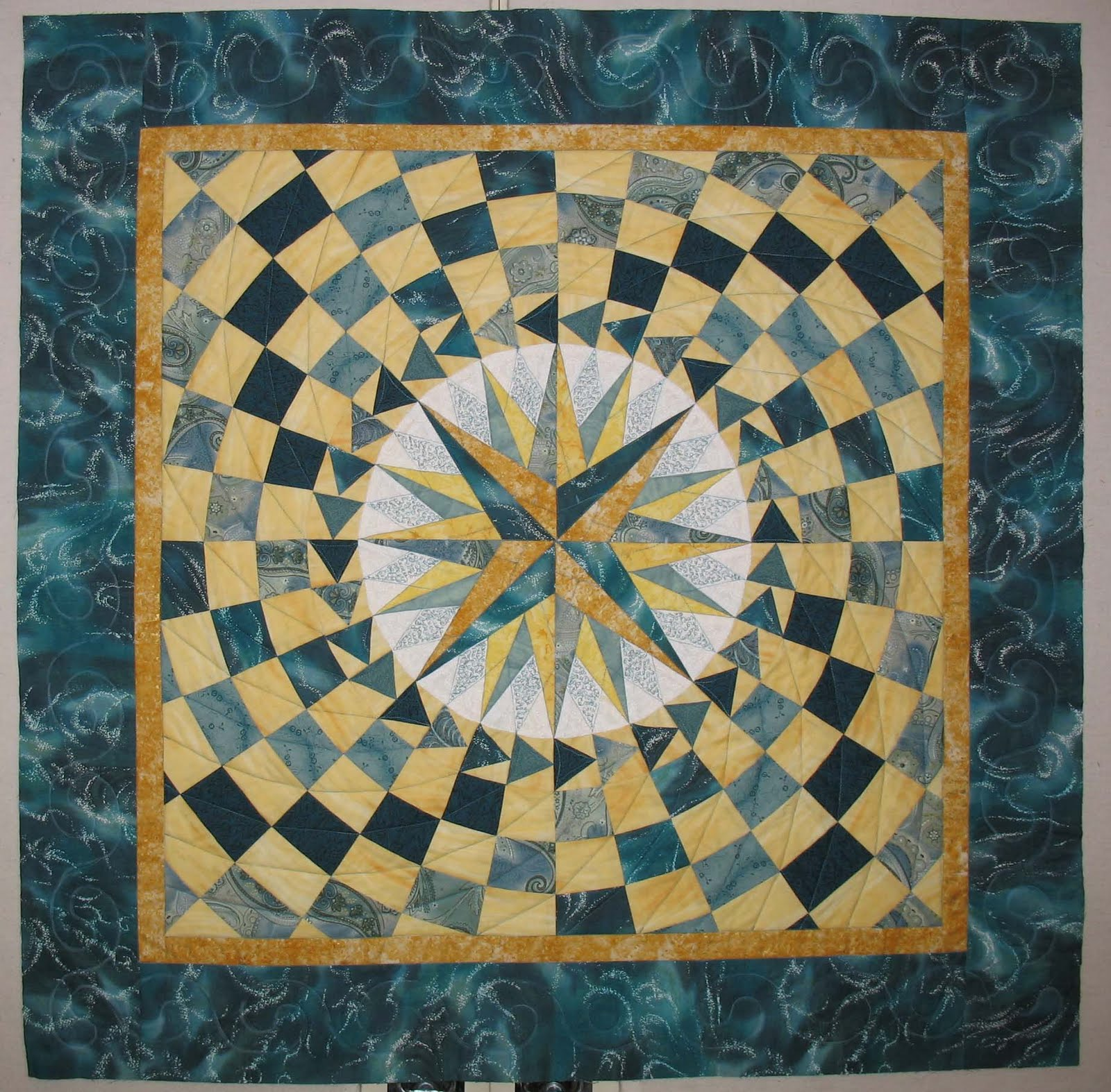 Quilting Patterns Mariner S Compass : Free mariners compass quilt pattern - cotton pattern quilt rag