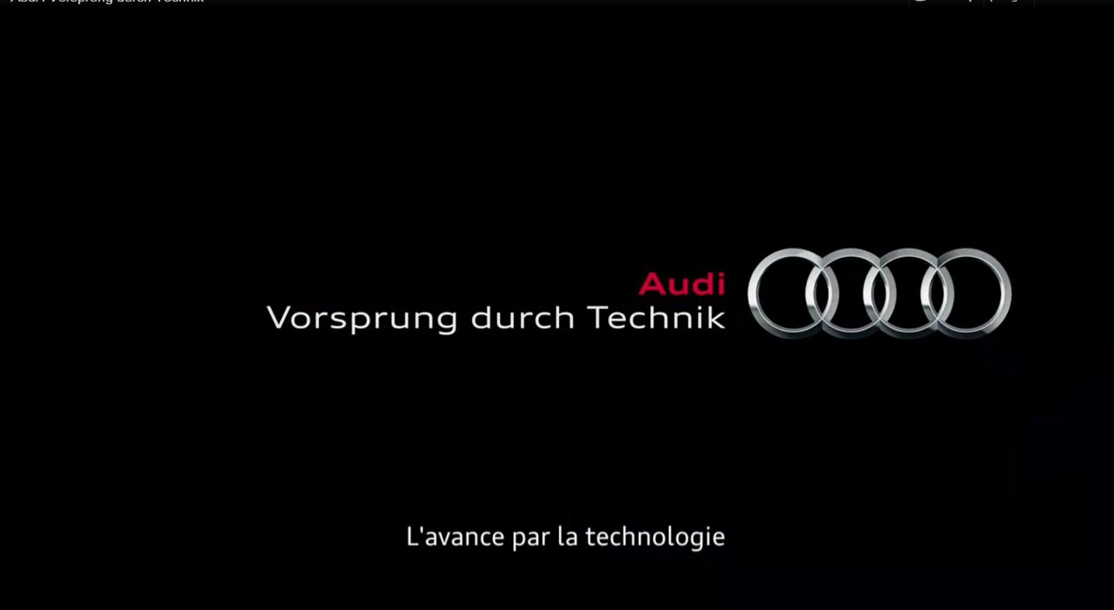 Audi Newz Pub Le Slogan Vorsprung Durch Technik Mis En