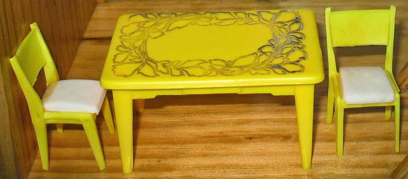 yellow door shutters house yellow plastic table