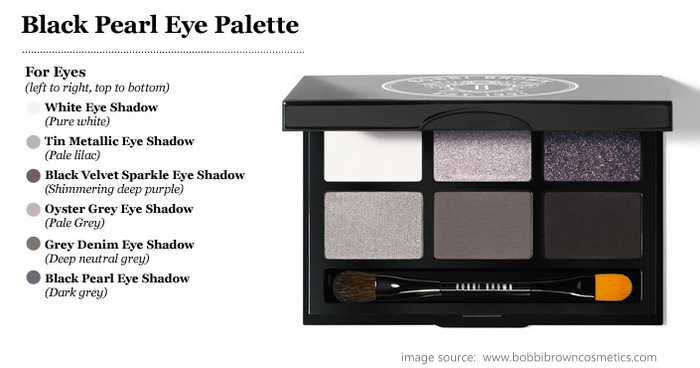 Bobbi Brown Black Pearl Eyeshadow Palette Holiday Makeup 2012 Collection Gifts Darker Indian skin Beauty blog Swatches
