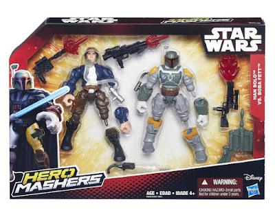 TOYS : JUGUETES - STAR WARS : Hero Mashers  Han Solo & Boba Fett | Pack 2 Figuras - Muñecos  Producto Oficial Película Disney 2015 | Hasbro B3828 | A partir de 4 años Comprar en Amazon España & buy Amazon USA
