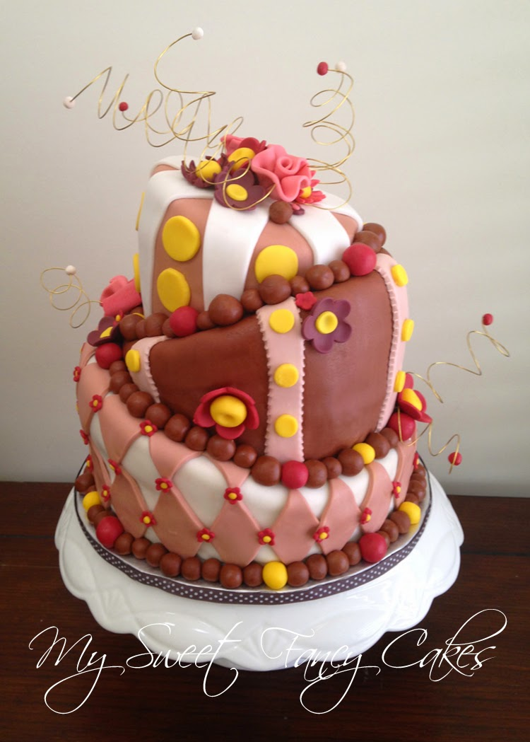 My Sweet Fancy Cakes Topsy Turvy 40th Birthday Cake