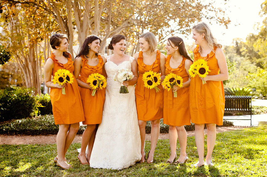 Fall bridesmaid dress
