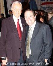 Robert Paisola and Senator Orrin Hatch