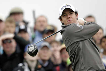 Rory McIlroy at the British Open